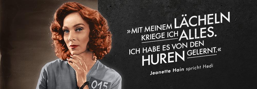Jeanette Hain spricht Hedi