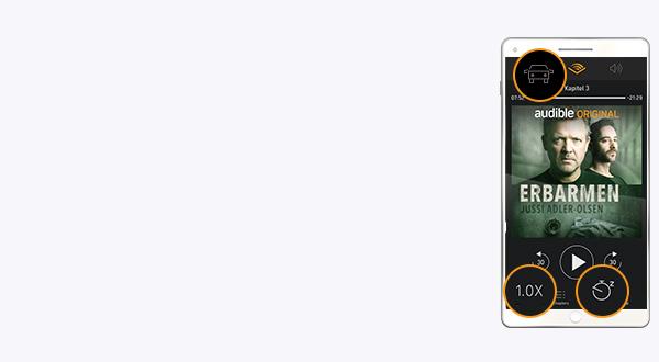 Bild der Audible App