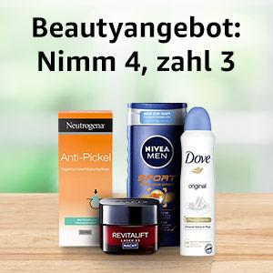 Beauty Angebot bei Amazon: Nimm 4, zahl 3