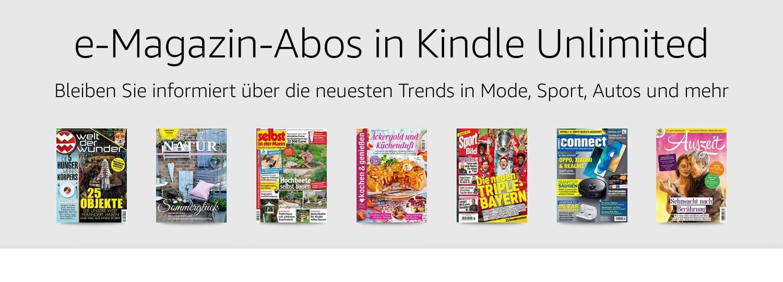 Entdecken Sie eine wechselnde Auswahl beliebter eMagazine
