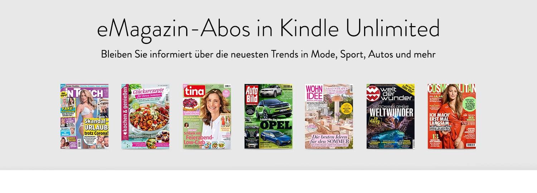 Entdecken Sie eine wechselnde Auswahl beliebter e-Magazine