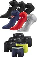 PUMA Socken, Boxershorts und Shorts + Hummel Socken