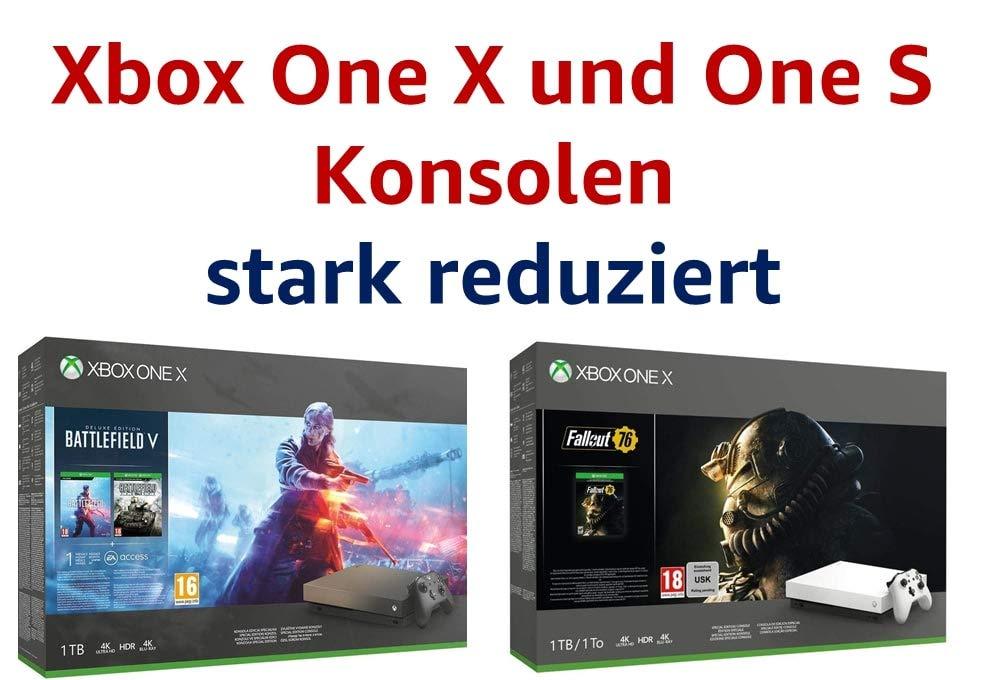 Xbox One X und One S Konsolen: stark reduziert