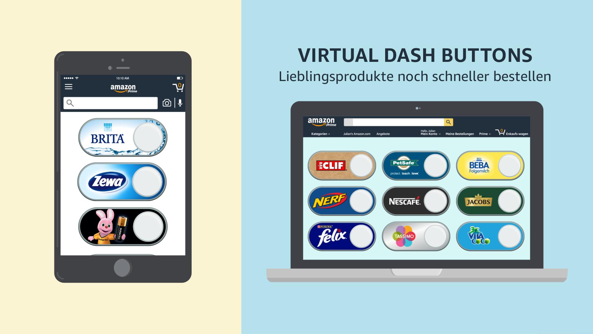 Superior Mithilfe Von Virtual Dash Buttons Können Sie Ihre Lieblingsprodukte Auf  Amazon Schnell Und Einfach Finden Und Nachbestellen. Virtual Dash Buttons  Stehen ...