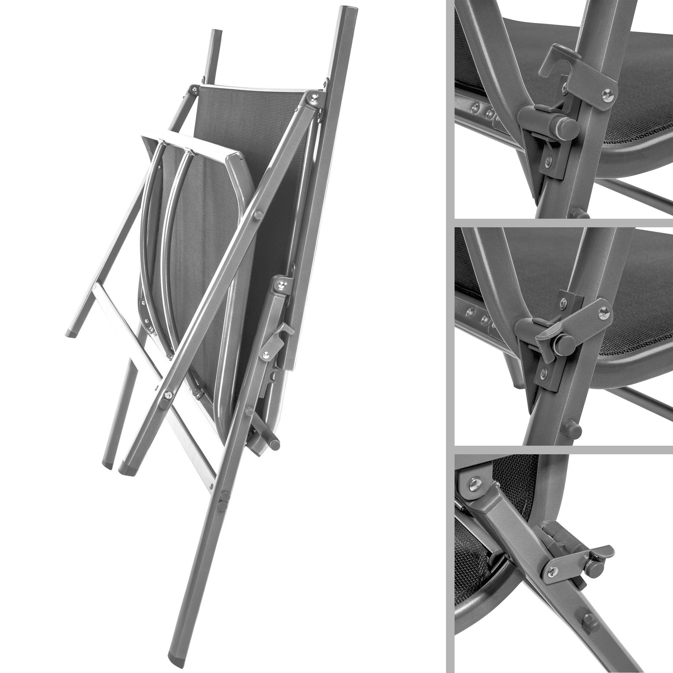 Gartenmobel Rattan Toom :  Ultranatura KorfuSeriePlus, Aluminium Gartenbank mit Armlehne, Grau