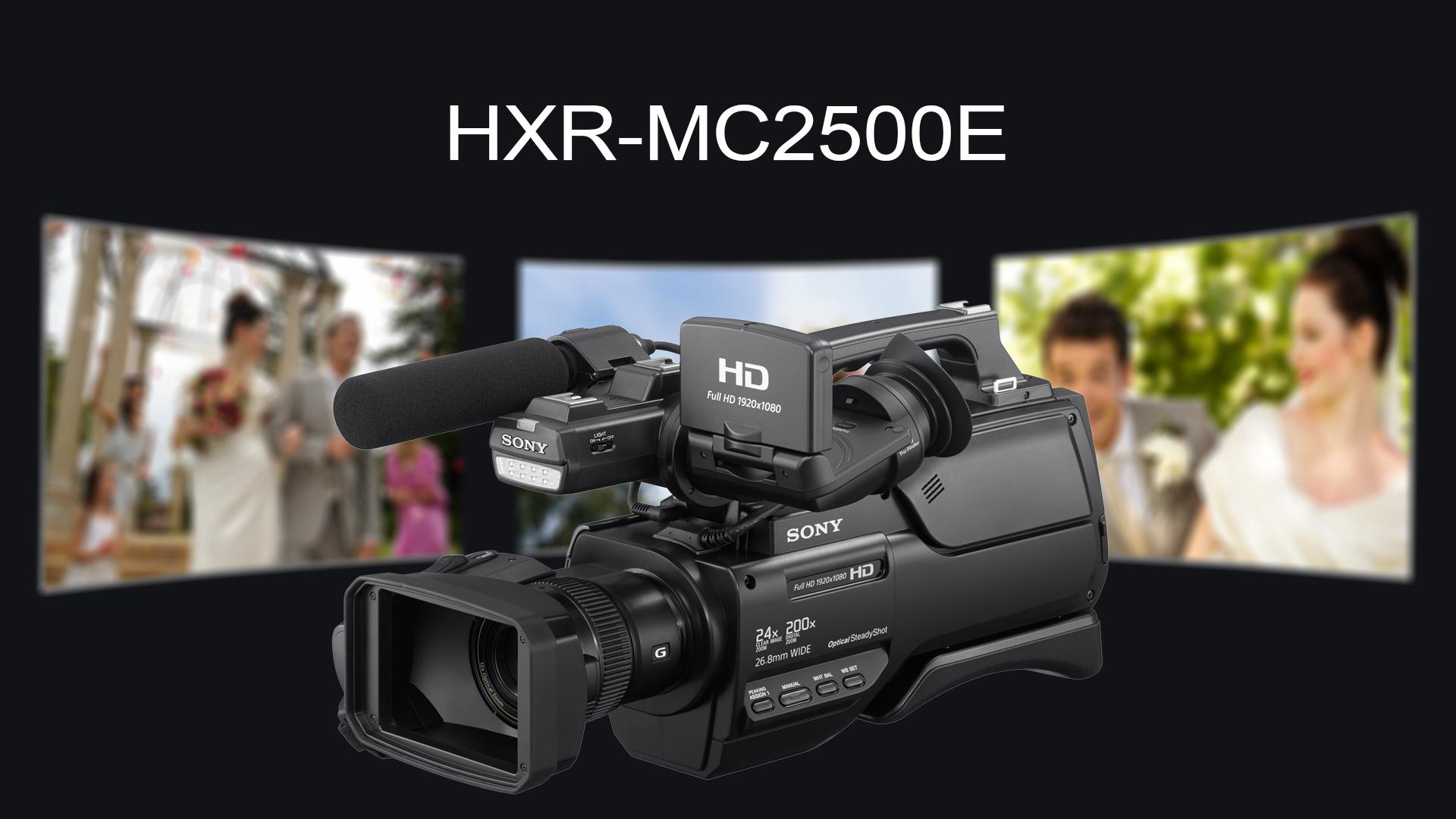 sony hxr mc2500e nxcam avchd schulter camcorder kamera. Black Bedroom Furniture Sets. Home Design Ideas