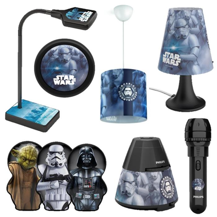 philips disney star wars led tischleuchte schwarz beleuchtung. Black Bedroom Furniture Sets. Home Design Ideas