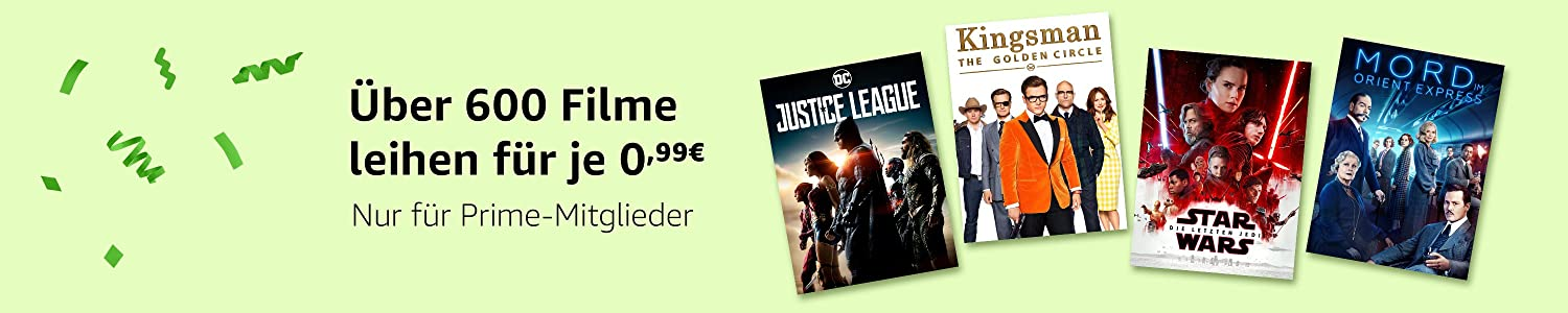 [amazon.de] 600 Filme in HD um je 0,99€ ausleihen