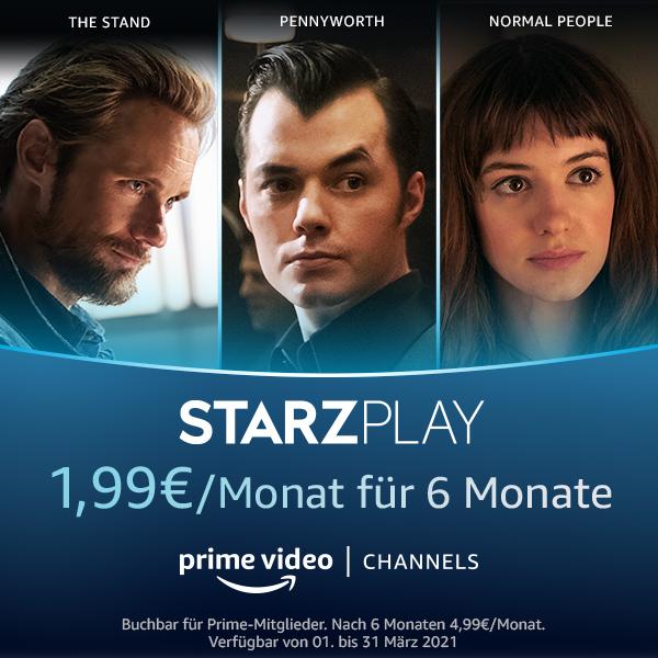 Amazon STARZPLAY Channel Prime Video Angebot 1,99 €/Monat für 6 Monate