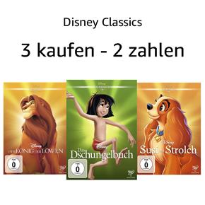 3 Disney Classics Filme kaufen - 2 bezahlen