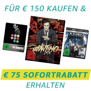 DVD & Blu-ray: Für 150 EUR kaufen, 75 EUR Sofortrabatt erhalten