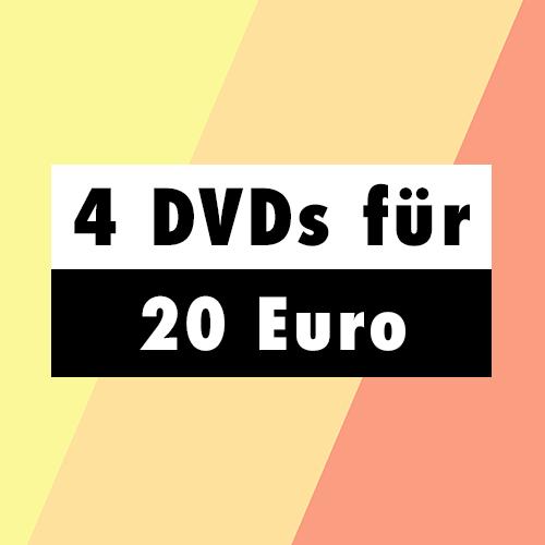 4 DVDs für 20 EUR