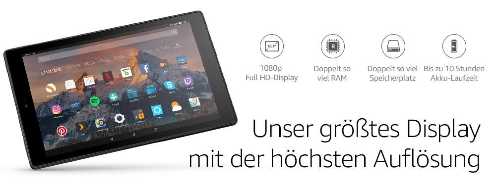 Fire Hd 10 Tablet 1080p Full Hd Display 32 Gb Schwarz Mit Werbung Vorherige Generation 7 Amazon Devices