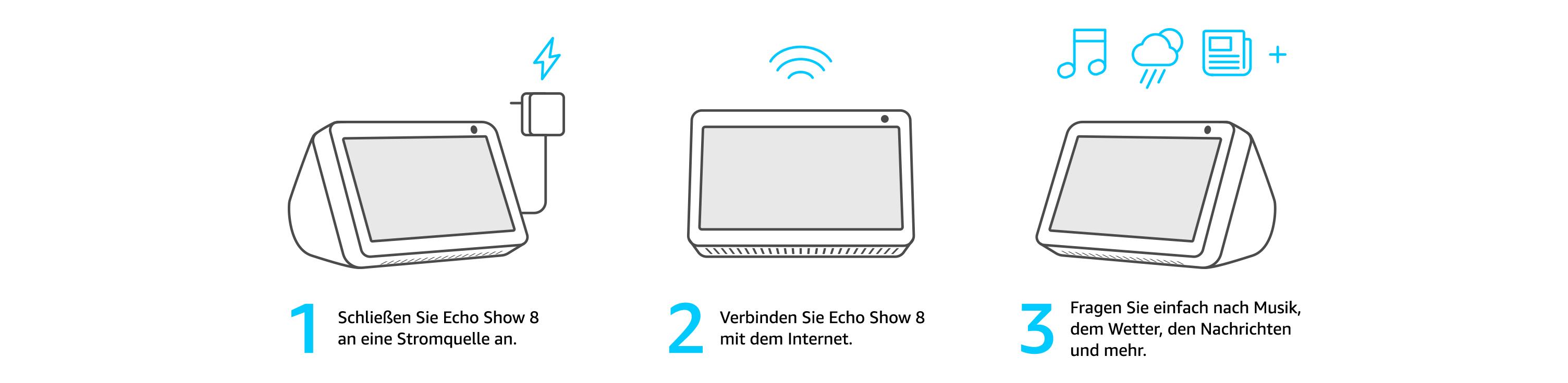 Echo Show 8 Anthrazit Stoff Blink Mini Kamera Funktioniert Mit Alexa Alle Produkte
