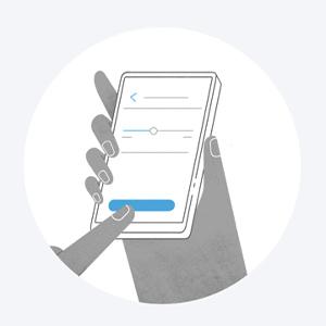 Führen Sie die Schritte in der App aus, um eine Verbindung mit dem WLAN herzustellen.