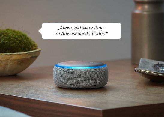 """""""Alexa, aktiviere den Abwesenheitsmodus von Ring."""""""