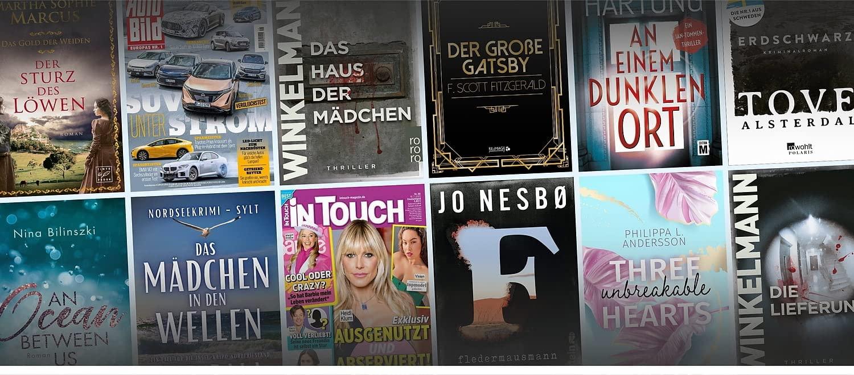 Kindle Unlimited - Genießen Sie unbegrenzten Zugriff auf über 1 Million eBooks, eine wechselnde Auswahl and e-Magazinen und tausende Hörbücher auf jedem Gerät für lediglich 9.99€ im Monat.