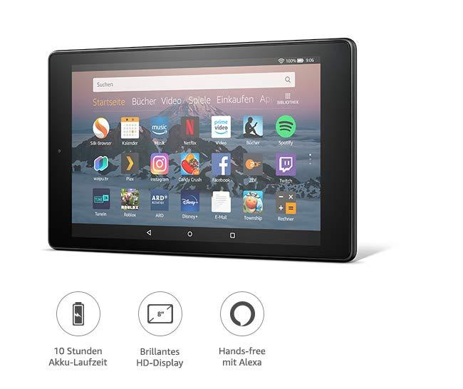 Fire Hd 8 Tablet 16 Gb Schwarz Mit Spezialangeboten Vorherige Generation 8 Amazon Devices