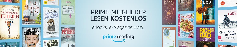 Prime Reading. Prime Mitglieder lesen kostenlos. Bücher, Zeitungen, Zeitschriften uvm.