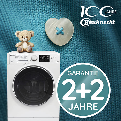 2+2 Jahre Herstellergarantie: Bauknecht Steam Waschmaschinen