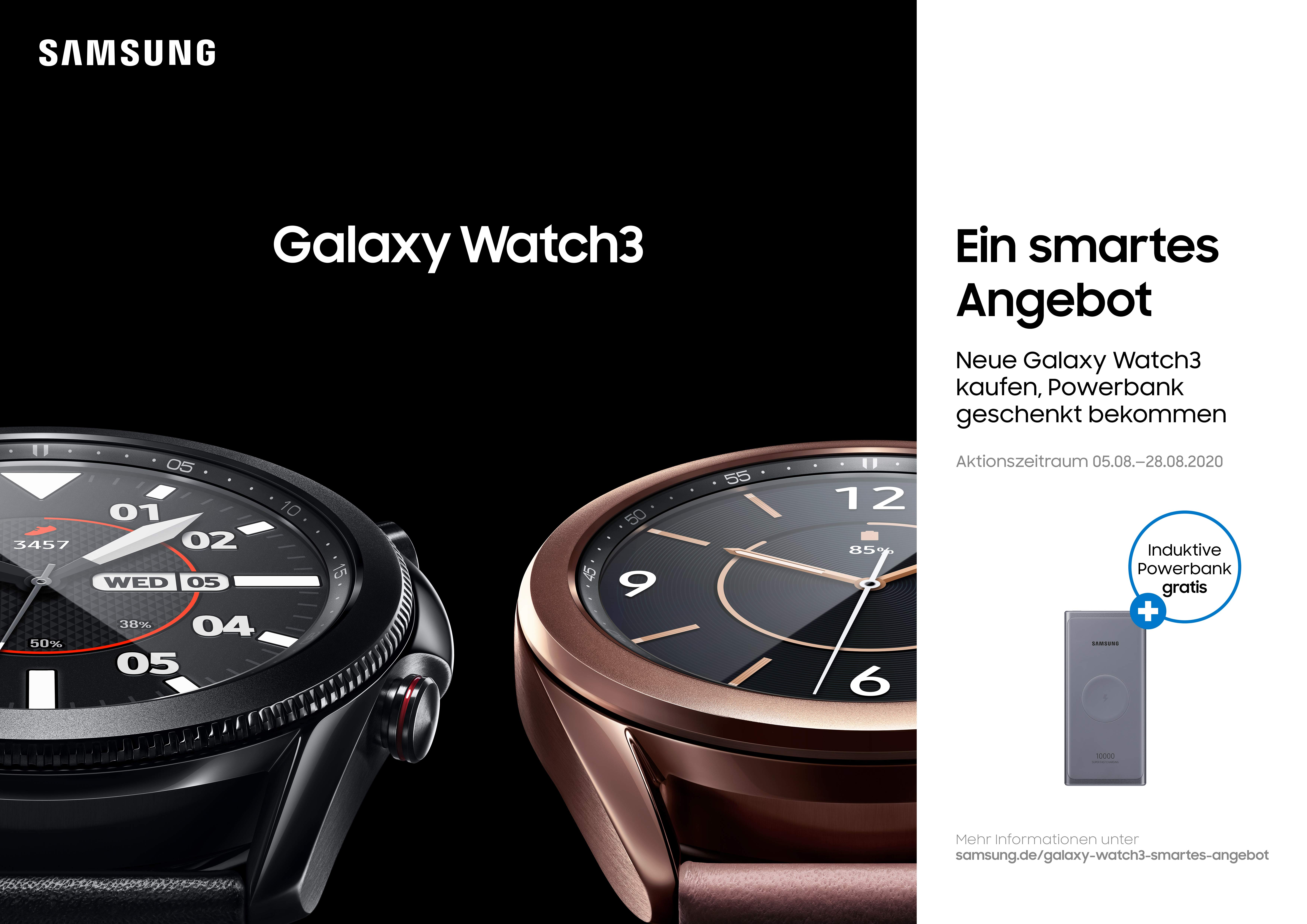 Samsung Galaxy Watch 3 mit Samsung Induktive Powerbank (EB-U3300)