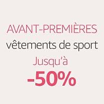Jusqu'à -50% sur une sélection vêtements de sport