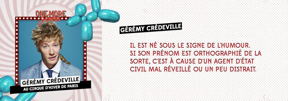 Audible Original One more joke X Cirque d'hiver: Gérémy Crédeville