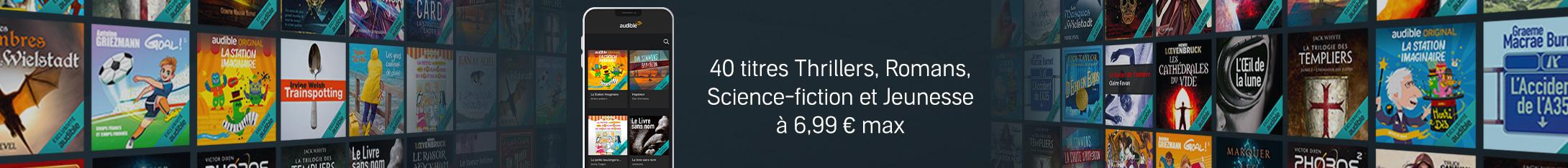 Audible séries : 40 titres à seulement 6,99€ chacun