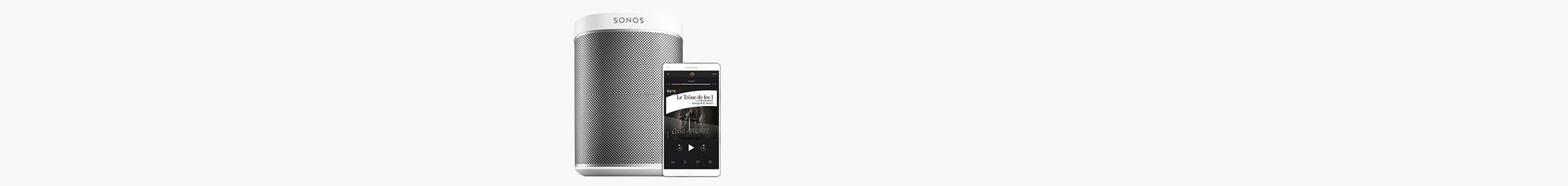 Ecoutez vos livres audio sur vos enceintes Sonos !