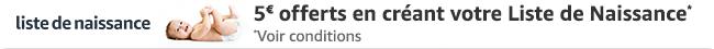 5 euros offerts en créant votre Liste de Naissance Amazon