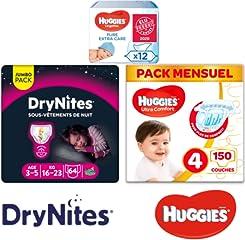 Huggies, DryNites, PullUps: jusqu'à -37% sur une sélection de produits pour bébés et enfants
