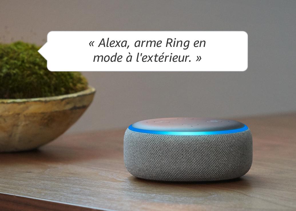 « Alexa, arme Ring en mode à l'extérieur. »