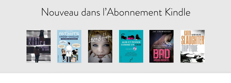 Nouveau dans l'abonnement Kindle