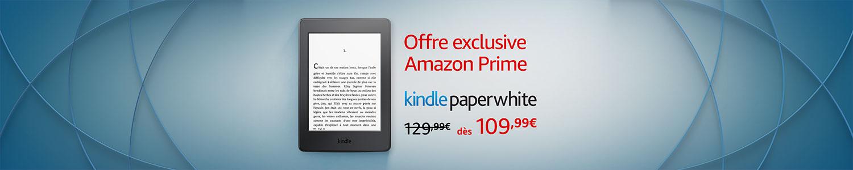 Kindle Paperwhite: Offre exclusive Amazon Prime
