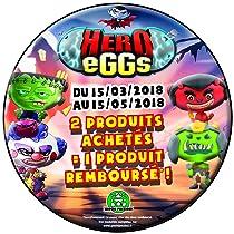 2 produits achetés = 1 produit remboursé sur Hero Eggs