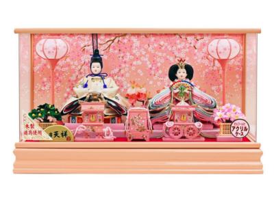 人形工房天祥 ぷり姫シリーズ 「芥子親王飾り(二人飾り) 雛」 オルゴール付き
