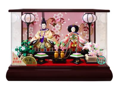 吉徳 雛人形 ケース入り親王飾り