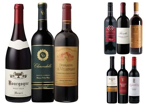 【頒布会3ヶ月コース】世界の銘醸ワイン飲み比べ 赤ワイン3本セット(3本×3回分 計9本)ZH2-3
