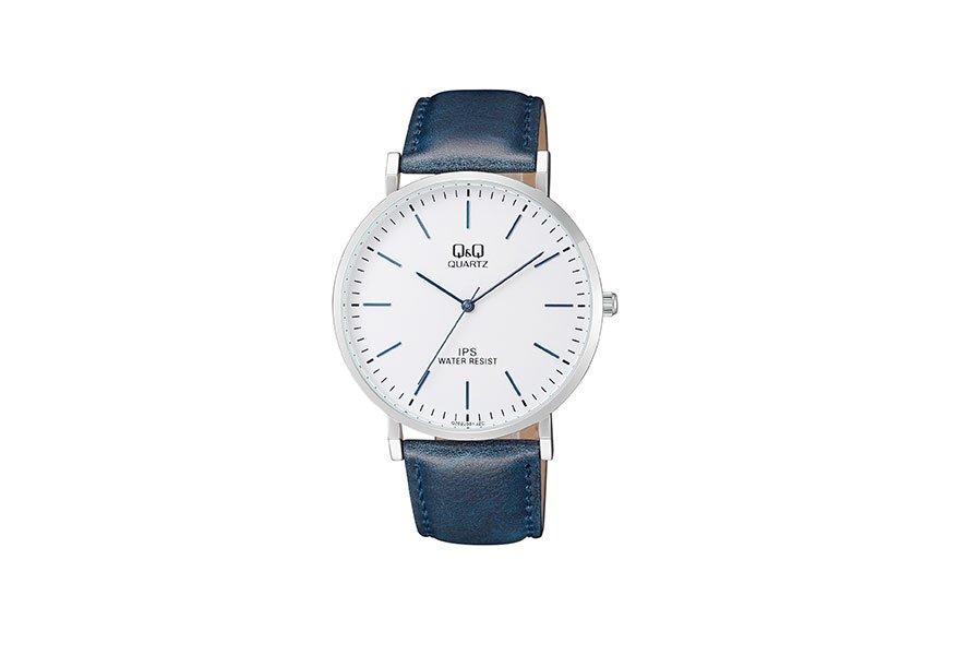 CITIZEN Q&Q 腕時計 アナログ 革ベルト 海外モデル