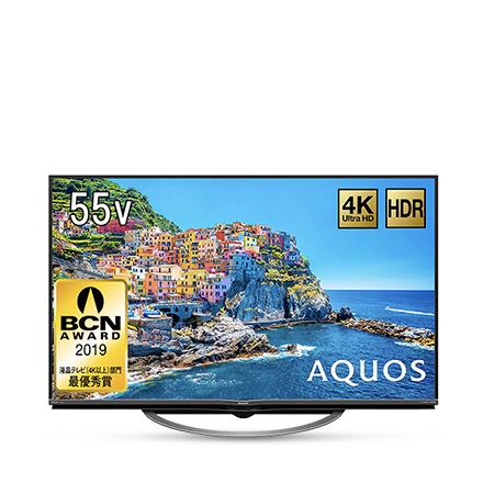 シャープ 55V型 液晶 テレビ AQUOS 4T-C55AJ1 4K Android TV 回転式スタンド 2018年モデル&