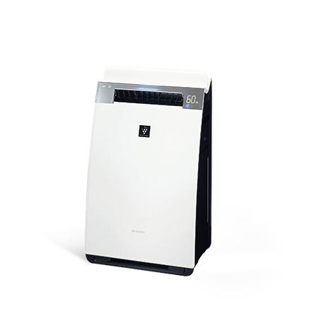 シャープ 加湿 空気清浄機 プラズマクラスター 25000 ハイグレード 21畳 / 空気清浄 34畳 PM2.5 モニター付 クラウド対応 人工知能 ホワイト KI-HX75-W&