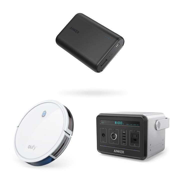Anker Directのモバイルバッテリーやロボット掃除機など各種製品がお買得
