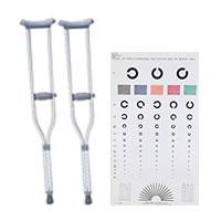 松葉杖・視力検査、他