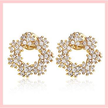 [ナオットジュエリー] ジルコニア ピアス Bubble Circle Pierce [ギフトBOX付き] レディース スタッドピアス naotjewelry (直径1.2cm)