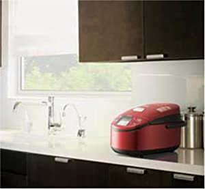 日立 IH ジャー炊飯器 蒸気カット 極上炊き 圧力&スチーム 5.5合 レッド RZ-VV100M R