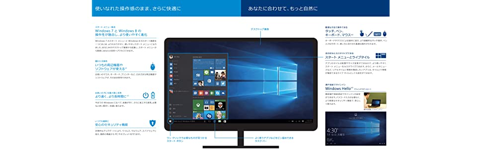 Windows10 デスクトップ画面イメージ