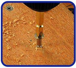 RELIEF 六角軸下穴ドリルと両頭ビット10本組 木ネジ、各種タッピングネジの締付けに