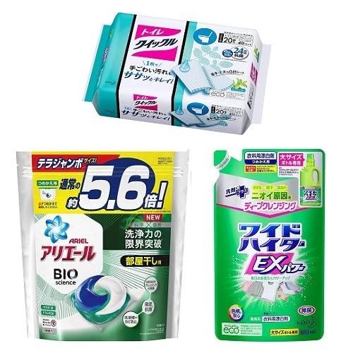 アタック、アリエールなど洗濯洗剤・トイレクイックルなどドラッグストア商品が特別価格