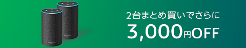Echo 2台まとめ買いで3,000円OFF