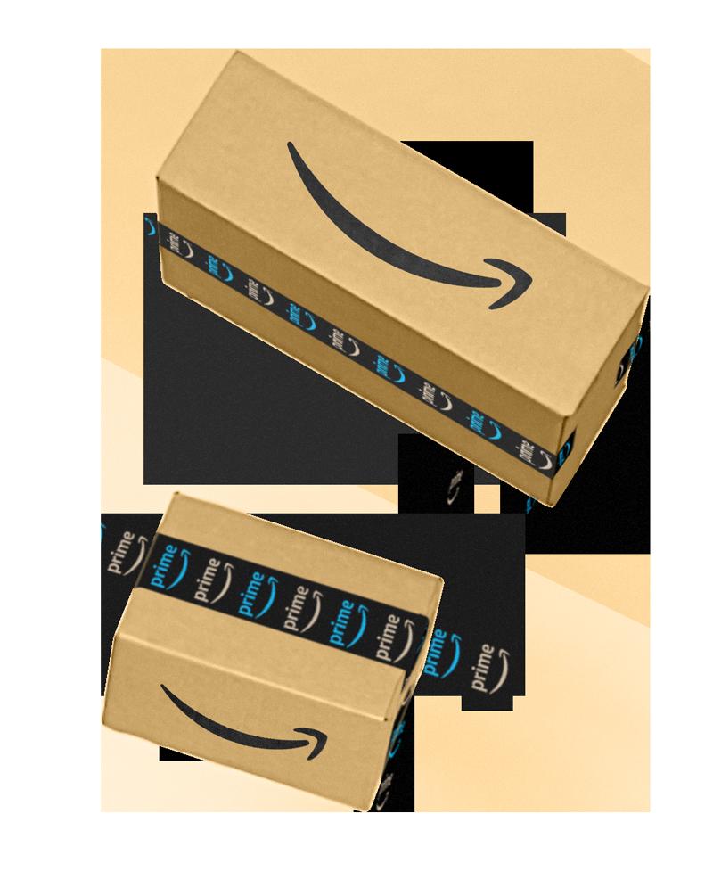 落ちてくる2つのAmazonボックス
